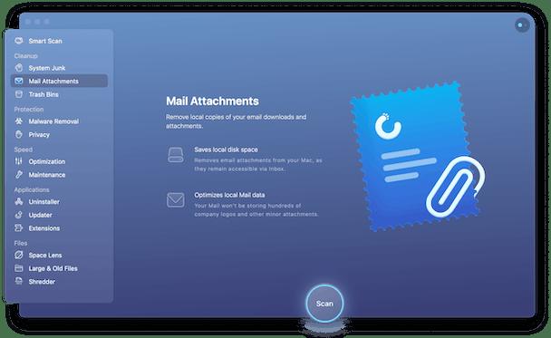 CleanMyMac X - Mail Attachments module